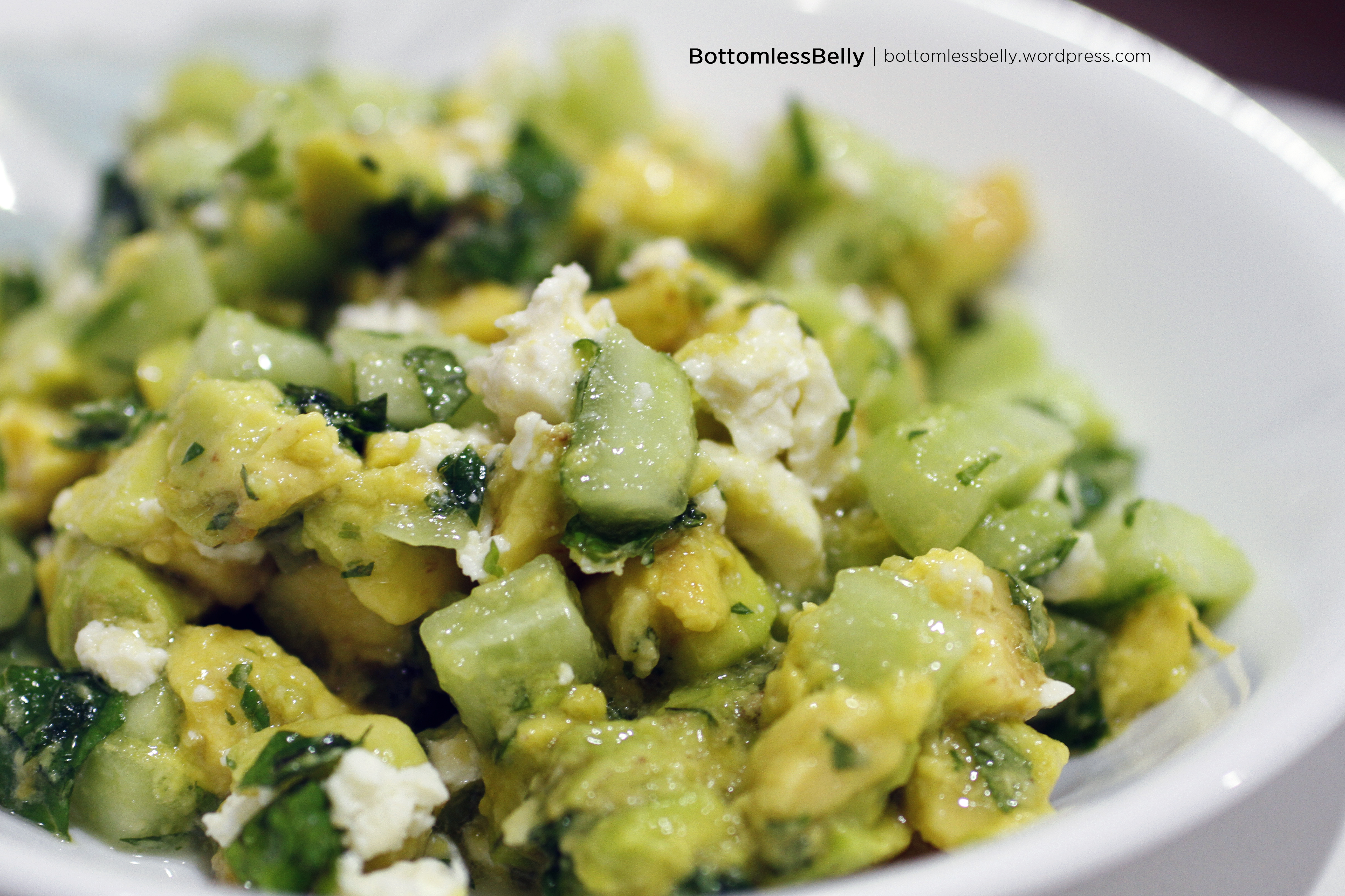 Cucumber Avocado Salad with Lemon, Mint, and Feta | FoodEase